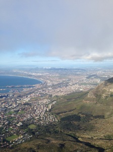View from Table Mountain over Cape Town. 25/09/15